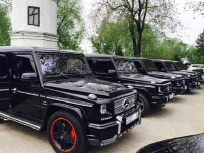 кортеж из Mercedes Gelandewagen черных в Алматы
