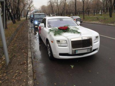 Прокат Rolls-Royce Ghost в Алматы на свадьбу
