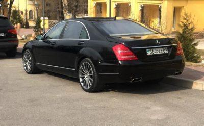 прокат Mercedes-Benz S 500 W 221 с водителем в Алматы