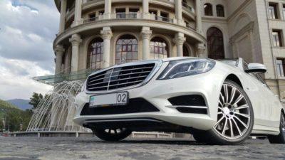 прокат на свадьбу белого мерседеса в Алматы