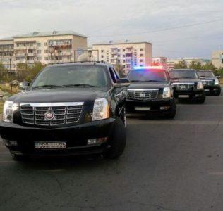 кортеж Cadillac Escalade black на свадьбу в Алматы