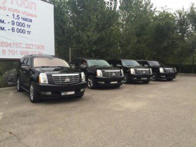 кортеж из Cadillac Escalade black в Алматы