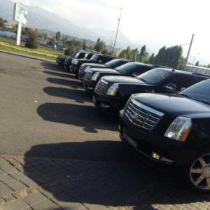 кортеж Cadillac Escalade black в Алматы