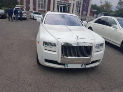 прокат Rolls-Royce Ghost на свадьбу в Алматы