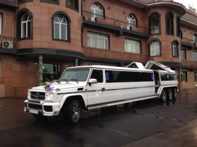 прокат лимузина Mercedes Benz Gelandewagen 8 колес в Алматы